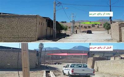 رفع حريم شبكه هاي برق رساني روستاي شش بهره ميانه و سفلي شهرستان لردگان